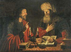 Cristo e Nicodemo in un dipinto di Crijn Volmarijn
